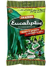 Caramelo Eucalipto Sin Azúcar La Asturiana - Refrescante caramelo duro de eucalipto SIN AZÚCAR, despeja nariz y garganta, sin gluten, bolsa de 100 gramos