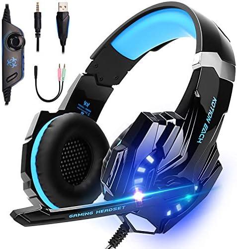 LonEasy Auriculares para Juegos, Auriculares para Juegos con Aislamiento de Ruido con Cable de,Control del Volumen audifonos Gaming. 3