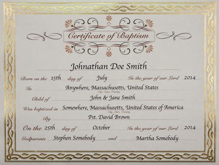 AmazonCom  Baptism Certificate  Baby