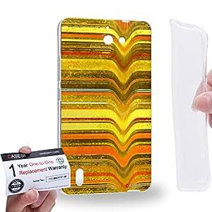 Case88 [Huawei Ascend G628] Gel TPU Carcasa/Funda & Tarjeta de garantía - Art Fashion Yellow Melting Stripes Art0797
