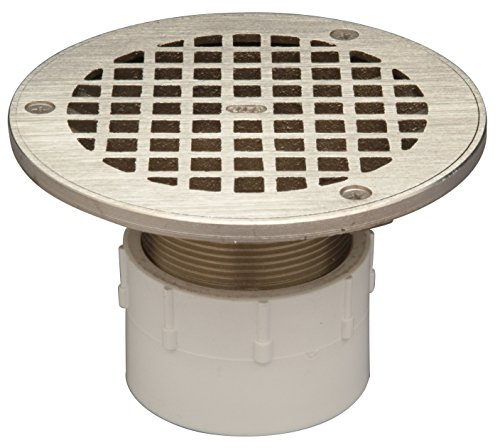 Zurn FD2210-PV2 Adjustable Floor Drain, PCV Body, 2