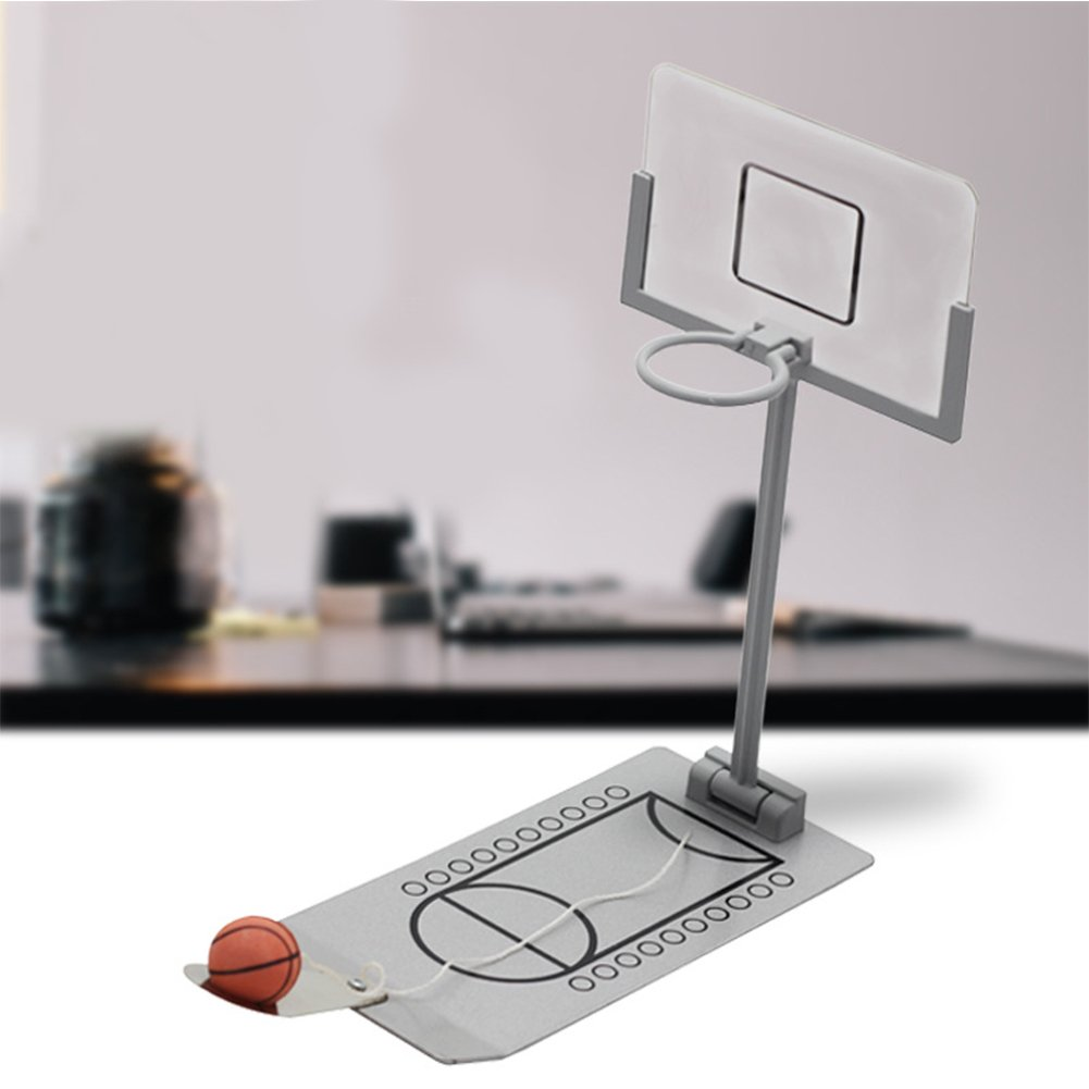 Lanlan Mini Foldable Basketball Shot Arcade System Desk Basketball Shooting Game Creative Pressure Relief Toys for Kids