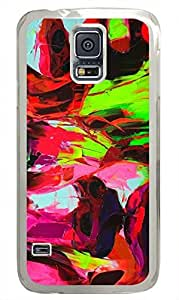 S5 Samsung Galaxy PC Hard Shell Case Abstract Paint Transparent Skin by Sallylotus