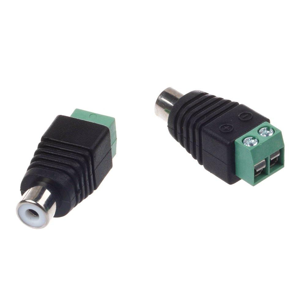 GAOHOU® 1 Paar RCA Stecker Adapter Set, Cinch Kabel: Amazon.de ...