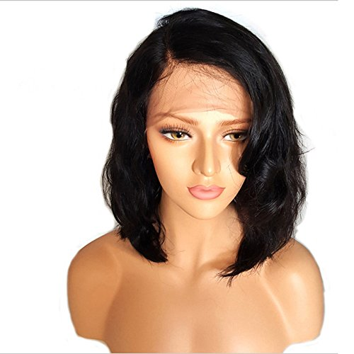 Clearance Sale!DEESEE(TM)Brazilian Less Lace Front Full Wig Bob Wave Black Natural Looking Women Wigs -
