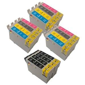 3 x T 715 + T 711 x 4 Multipack. Cartuchos de tinta compatibles para Epson Stylus S20- También es compatible con D120, D78, D92, DX400, DX4000, DX4050, DX4400, DX4450, DX5000, DX5050, DX6000, DX6050, DX7000, DX7400, DX7450, DX8400, DX8450, DX9400F, S20, S21, SX100, SX105, SX110, SX115, SX200, SX205, SX209, SX210, SX215, SX400, SX405, SX410, SX415, SX515W, SX600FW, SX610FW, BX300F, BX310FN, BX600FW impresoras - La última versión. Cartuchos de tinta de doble capacidad - T891 T892 T893 T894 T895 T711 T712 T713 T714 T715(Contains 16x : T711 T712 T713 T714) - Negro / Cian / Magenta / Amarillo / ***Por TriINKS***