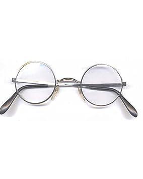 3208fc48e6 Gold Round Style Clear Glasses John Lennon Harry Potter Metal Frame Lens  Santa