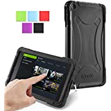 NVIDIA SHIELD Tablet K1 / NVIDIA SHIELD Tablet Case - Poetic [Turtle Skin Series] NVIDIA SHIELD Tablet 8.0-inch Case - [Corner/Bumper Protection] [Grip] [Sound-Amplification] Protective Silicone Case for NVIDIA SHIELD Tablet K-1 (2015) / NVIDIA SHIELD Tablet (2014) Black (3 Year Manufacturer Warranty From Poetic)