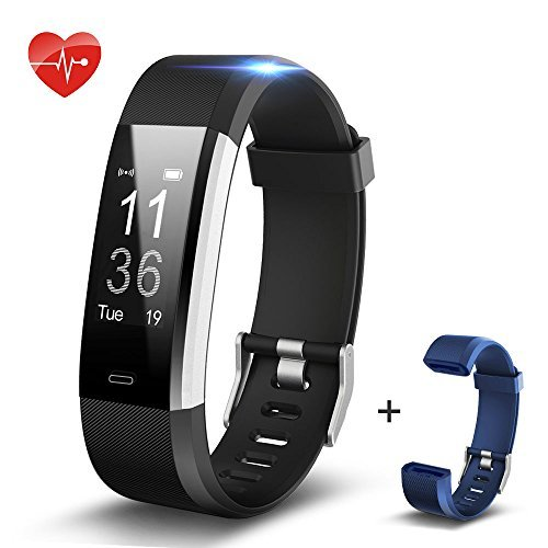 Fitness Tracker Heart Rate,SHONCO Bluetooth Pedometer Watch Waterproof IP67 Activity Tracker Bracelet with Heart Rate Monitor Sport Calorie Step Counter Health Sleep Monitor for Kids Women Men