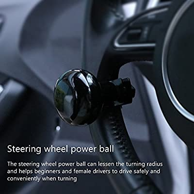 ONEVER Steering Wheel Knob Spinner, Universal Fit Steering Wheel Power Ball Handle for Car Vehicle: Automotive