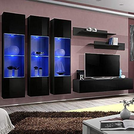 NOUVOMEUBLE Novoli - Mueble para televisor, Color Negro: Amazon.es: Hogar