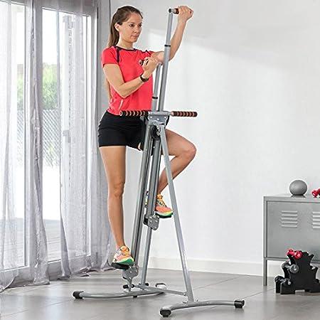 BuoQua Climber Fitnessger/ät f/ür Ganzk/örpertraining LCD Climbing Machine Sportger/ät f/ür zu Hause Vertikal Climber Stepper