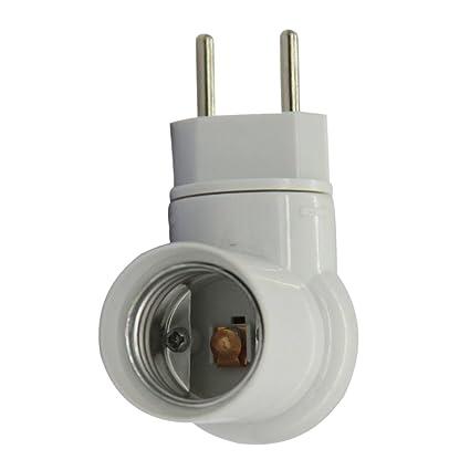 E27 Lámpara de Enchufe Soporte de Luz Bulbo UE Interruptor Sensor de Movimiento PIR Infrarrojos