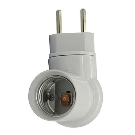 MagiDeal- Enchufe estándar europeo con portalámparas E27 para bombillas con