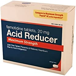 Acid Reducer 20mg Famotidine OCT Maximum Strength Tablets - 100 CT (25 Tablets x 4