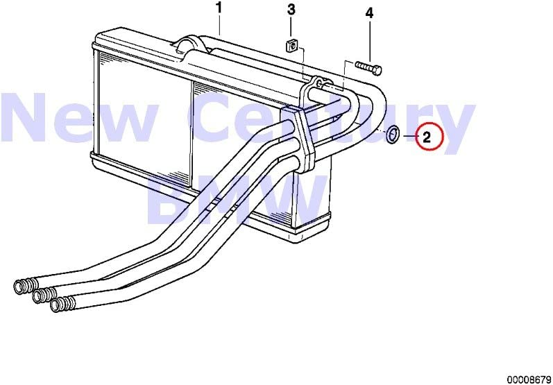 BMW Genuine Bodywork Heater And Air Conditioning Gasket Ring D=17.12MM 528i 530i 320i 630CSi 633CSi 318i 318is 325e 325i 325ix M3 840Ci 840i 850Ci 850CSi 735i 735iL 740i 740iL 750iL 525i 530i 535i 540