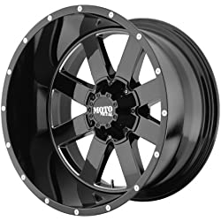 "Moto Metal MO962 Gloss Black Wheel with Milled Accent Finish (20x12""/6x5.5"")"