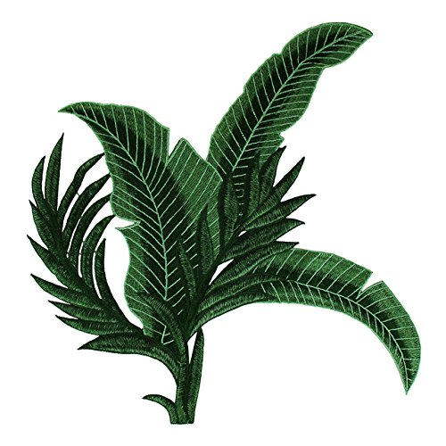- Banana Leaf Patch Embroidery sew on Patch Decoration Accessories Embroidered Patch for T-Shirt 1piece