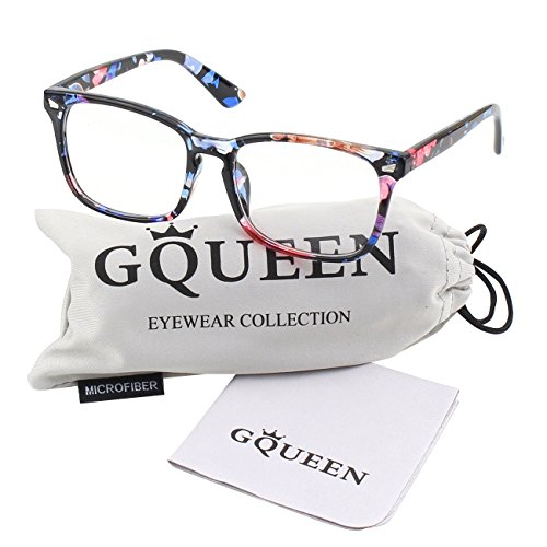 (GQUEEN 201582 Large Oversized Frame Horn Rimmed Clear Lens Glasses,Mixed)