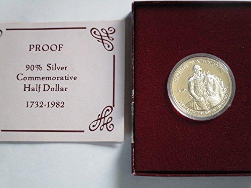 1982 S -S 1982 S Commemorative Proof 90% Silver Half Dollar Gem Deep Cameo US Mint Half Dollar proof