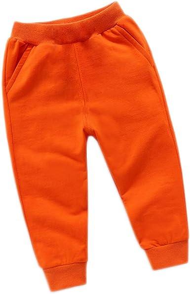 Okwin Niños Cálidos y Niñas Ropa De Primavera Otoño Invierno Sudadera Pantalón De Chándal Color sólido Ropa Deportiva 3~8 años Chándal Joggers Elásticos de Bebé en Algodón: Amazon.es: Ropa y accesorios