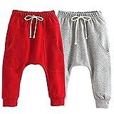 Little Baby Boys Girls 2 Pack Of Cotton Hiphop Harem Pants Infant Sport Jogger 5T-6T  Pants-d