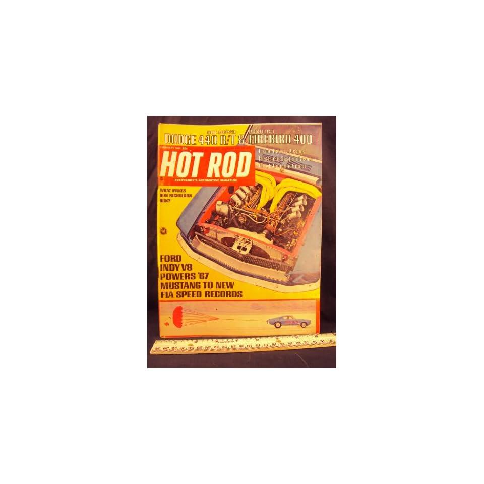 1967 67 FEB Febuary HOT ROD Magazine, Volume 20 Number # 2