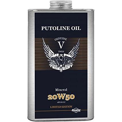 Putoline 74220 V de Twin - Aceite Mineral 20 W de 50 1L: Amazon.es ...