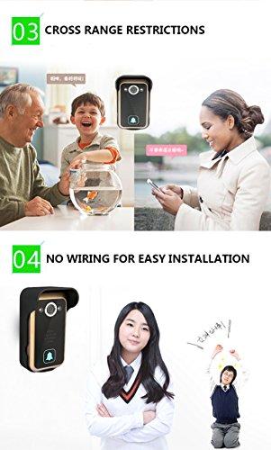 WiFi Wireless Video Intercom Doorbell Wireless Doorbell Mobile Phone APP Remote Control Unlock Remote Monitoring by JIA (Image #4)
