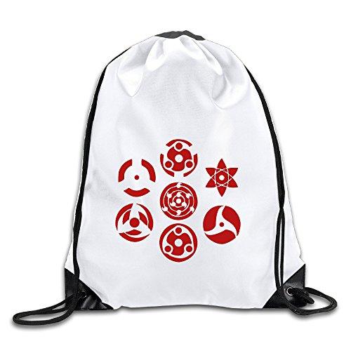 Hunson - Cool Sharingan Set Of 7 Pins Sport Bag Gym Bag For Men & Women Sackpack
