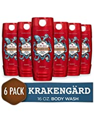 Body Wash for Men by Old Spice, Wild Collection Body Wash, Krakengard, 16 Fluid Ounce (Pack of 6)