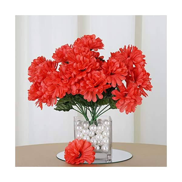Efavormart 84 Artificial Chrysanthemum Mums Balls for DIY Wedding Bouquets Centerpieces Party Home Decoration Wholesale – Coral
