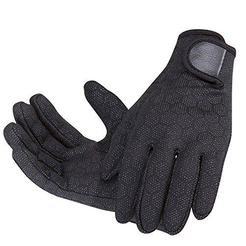 Vococal - 1 Paar Männer Tauchen-Schnorcheln Handschuhe - Verstellbarer Neoprenhandschuhe - Warm Surfen Sport Handschuhe, 1,5 mm (L, Schwarz)
