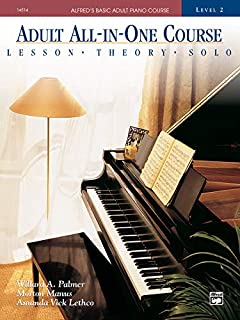 Alfred's Basic Adult All-in-One Course, Bk 2: Lesson * Theory * Solo, Comb Bound Book (0882849956) | Amazon Products