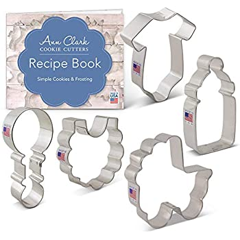 Baking Accs. & Cake Decorating Lovely Fox Run 34 Piece Mini Alphabet And Number Cookie/fondant Cutter Set Durable Modeling