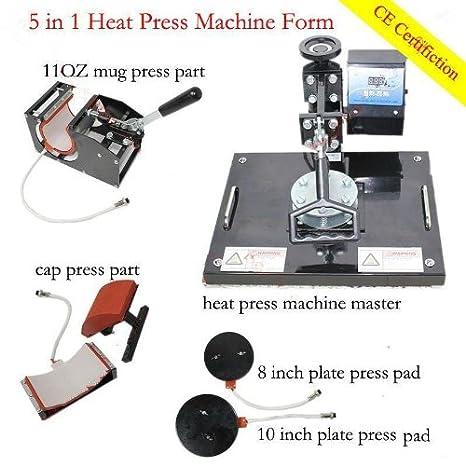 GOWE 5 en 1 T Shirt Nug Cap placa impresora transferencia de calor ...
