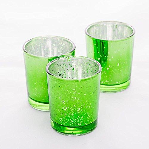 Richland Mercury Votive Candle Holders Green Set of 12 (Green Holders Votive)