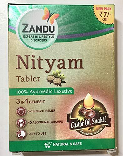 Zandu Nityam Tablets 12 Tablets for gas acidity flatulence digestion Pack of 5