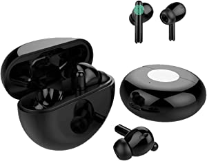 Wireless Earbuds Bluetooth 5.1 Noise Cancelling Headphones with Fast Charging Case, IPX7 Waterproof 3D Stereo Headphones Built in Mic, Auto Pairing Bluetooth Earbuds for iPhone/Android