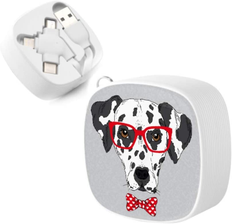 Fast Charge Multi USB Cable Glasses Dog Popular Style Multi 3 in 1 Retractable Multi Quick Charging Cable with Micro USB//Type C Compatible with Cell Phones Tablets and More