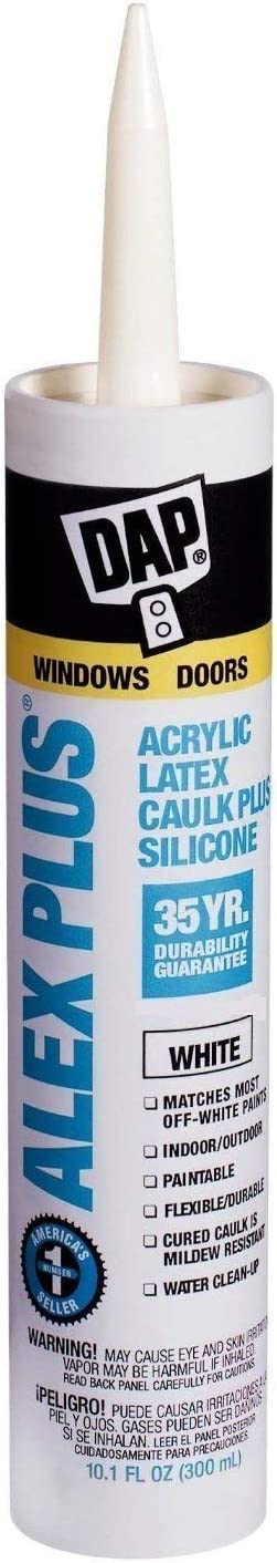Dap 18152 12 Pack 10.1 oz. Alex Plus Acrylic Latex Caulk Plus Silicone, White