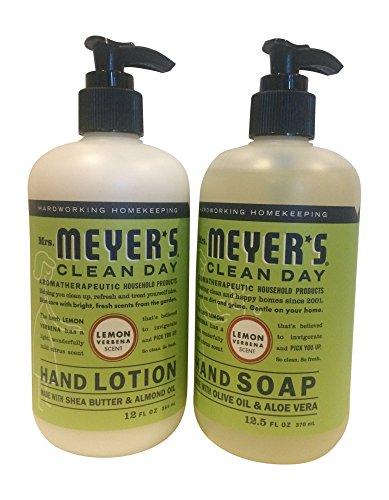 Mrs. Meyers Lemon Verbana Hand Lotion (12 oz) and Hand Soap (12.5 oz) bundle Mrs Meyers Hand Lotion Geranium