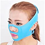 Cheap Spritech(TM) Women's Magic Thin Face Instrument Reduce Double Chin Face Belt Anti Wrinkle Mask Blue