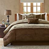 Madison Park Comforter Set, Queen, Brown