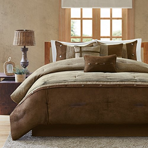 - Madison Park Comforter Set, Queen, Brown