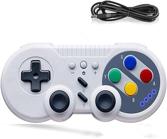 Pro Controlador Mando Inalámbrico para Nintendo Switch, ANTCOOL Gamepad inalámbrico Mando Pro para Switch USB Classic Controller para PC con Windows(Estilo Retro): Amazon.es: Videojuegos