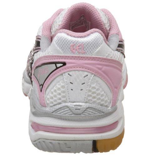 ASICS Womens GEL-Volleycross Volleyball Shoe White/Black/Pink zQaYpRDGd