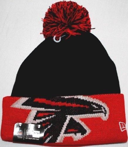 ギャップ精神借りているAtlanta Falcons NFL New Era Major Cuff Knit Hat with Pom