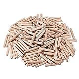 uxcell® 6x40mm Wooden Dowel Wood Kiln Dried Fluted Beveled Hardwood 200pcs