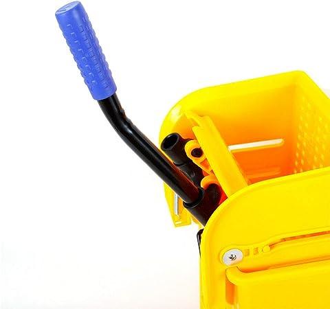 colore: giallo Carrello per pulizia 20 litri Berkalash in plastica